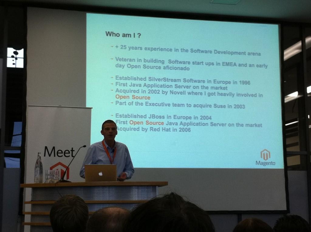 Michel Goossens beim Meet Magento 2010