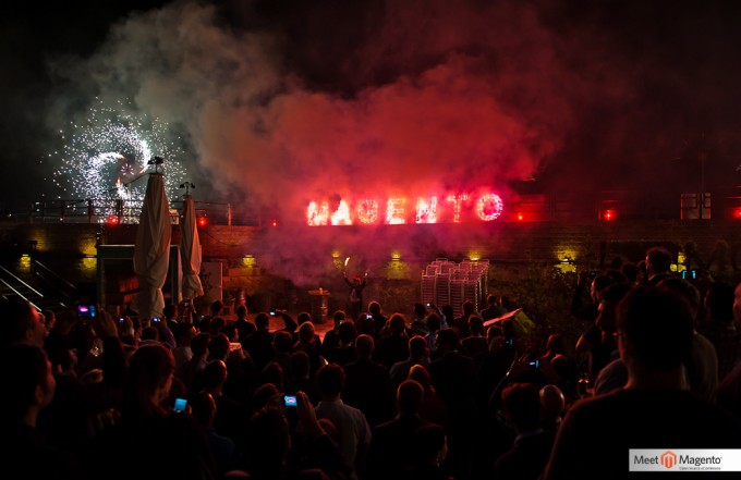 Meet Magento Feuerwerk in der Moritzbastei in Leipzig