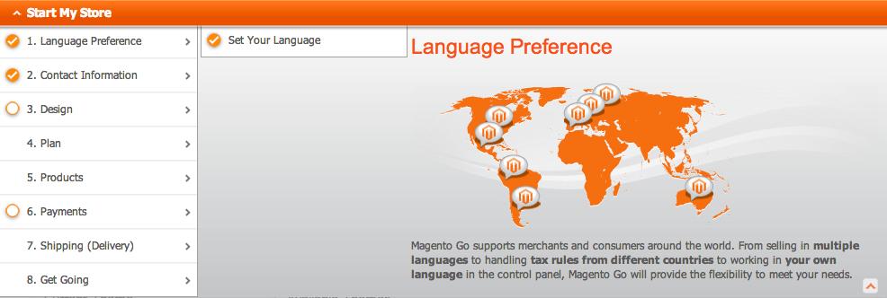 Magento GO Spracheinstellungen