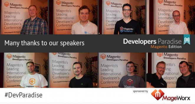 Speakers of Magento Developers Paradise 2014