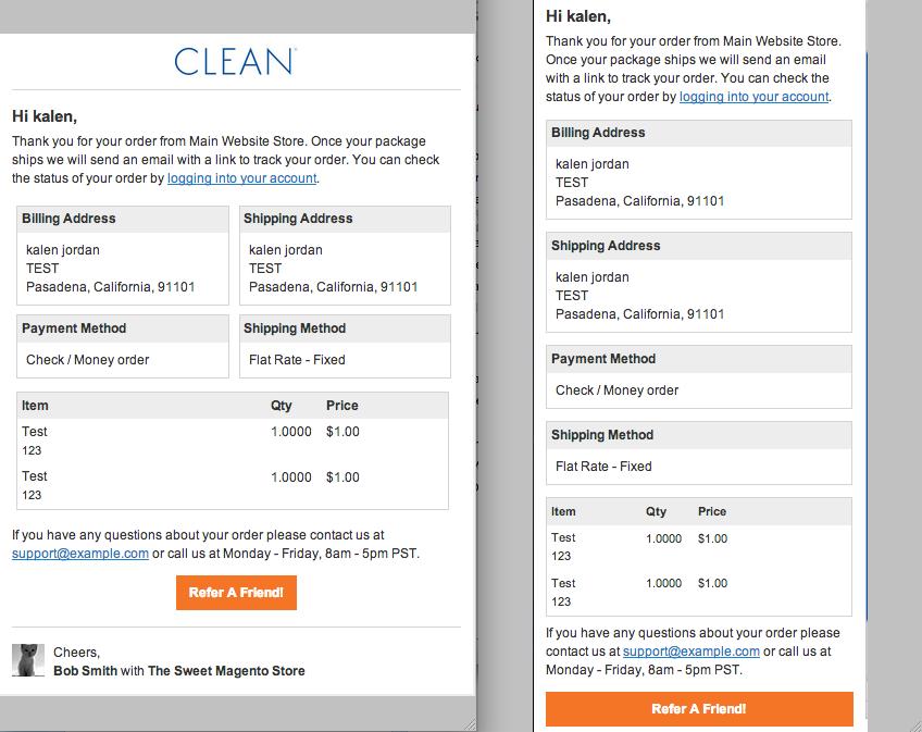 responsive e mails for magento openstream. Black Bedroom Furniture Sets. Home Design Ideas