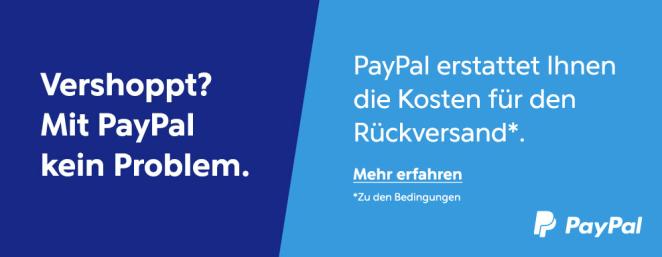 Kostenlose Rücksendung Paypal