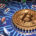 Concept Of Bitcoin Like A Computer Processor On Motherboard