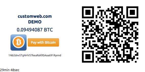 Coinsnap Bitcoin Beispiel mit QR-Code